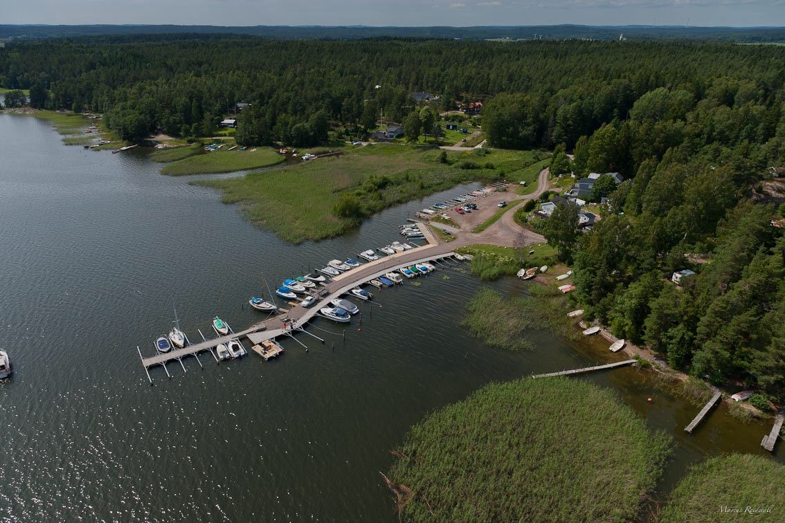 Tössebäcken harbor in lake Vänern. Perfect place for sportfishing and your fishing holiday